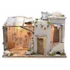 Casa palestinese illuminata per Presepe Napoletano 10 cm   Arte e antiquariato, Arte sacra, Statuine e presepi   eBay!
