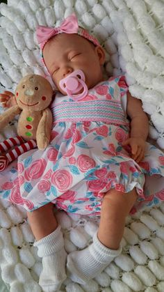 NEW SCULPT SUNBEAMBABIES  LIFELIKE VEINED CHILDS REBORN BABY DOLL & XMAS TEDDY #REBORN