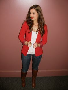 La Mariposa: Red Blazer and Jeans [casual friday]