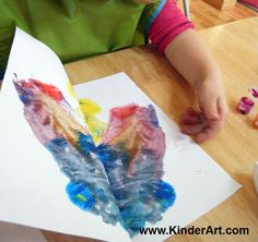 KinderArt® Blog - Art Lessons and Lesson Plans for Kids (Toddler, Preschool, Elementary and Beyond): Blotter Butterfly Painting
