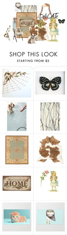 """""""Snug as A Bug in a Rug"""" by catfabricsandbuttons on Polyvore featuring interior, interiors, interior design, home, home decor, interior decorating, Dash & Albert, Brink & Campman, Avignon and Brumlow"""