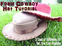 Get Your Crap Together: 31 Days of Halloween: Foam Cowboy Hat Tutorial