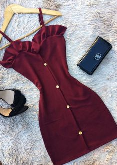32 Damen-Prêt-à-porter-Outfits - Kleidung Teen Fashion Outfits, Trendy Outfits, Summer Outfits, Fashion Dresses, Dress Summer, Fashion Clothes, Summer Ootd, Summer Shoes, Chic Outfits