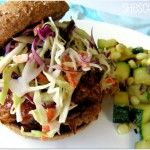 pulled pork sandwiches with cole slaw