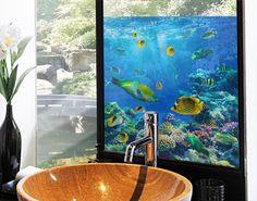 Fensterfolie - Sichtschutz Fenster Underwater Lights - Fensterbilder
