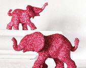 Hot pink elephants