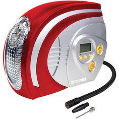 Motor Trend 12-volt Digital Fast-flow Air Compressor With Light