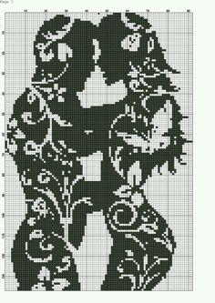 48 Man and Woman Filet Crochet Cross Stitch Charts, Cross Stitch Designs, Cross Stitch Patterns, Cross Stitching, Cross Stitch Embroidery, Embroidery Patterns, Crochet Chart, Filet Crochet, Loom Patterns