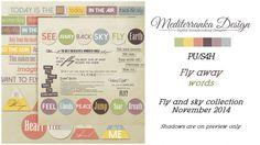 Fly away (Words) by Mediterranka Design