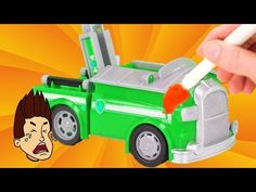 Paw Patrol Vehicle Upgrades get painted the Wrong Colors! Play Doh, Baby Shower Games, Videos, Entertaining, Youtube, Cool Stuff, Toys, Holiday Decor, License Plates