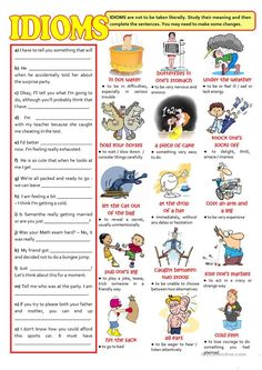 IDIOMS - English ESL Worksheets for distance learning and physical classrooms