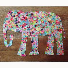 Lilly Pulitzer DIY Elephant lilly pulitzer prints lilly pulitzer agenda