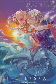 Jelsa with a Capital J — legendary-fangirl: Artist:. Jack Y Elsa, Jack Frost And Elsa, Jelsa, Disney Fan Art, Disney Love, Frozen Love, Frozen Art, Disney Frozen Elsa, Snow Queen