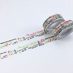 Math Washi Tape • Mathematics Decorative Tape.. So cute, must find a use for this!