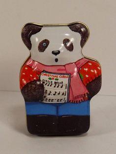 Hunkydory Panda Christmas Carol Trinket Tin Box Dana Kubick 1986 England…#hunkydorypandatin #collectibletin