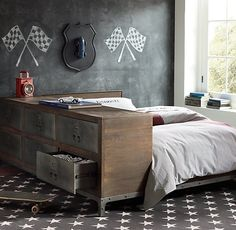 Industrial Locker Side Storage Bed
