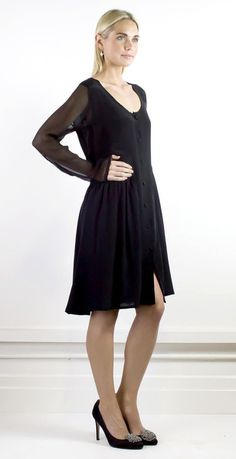 Contemporary silk dress