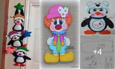 Toca con el dedo y aprende hacer estos muñecos con moldes de navidad