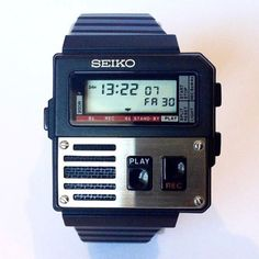 Seiko M516 Voice Note. 1983. It was featured in...