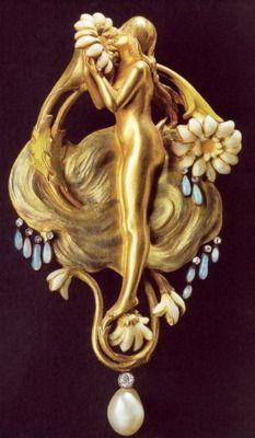 Art Nouveau jewelry.