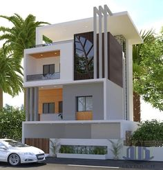 Ideas For Exterior House Design Modern Facades Architecture - Exterior Design Duplex House Design, House Front Design, Modern House Design, Modern Home Exteriors, Modern Bungalow Exterior, Single Floor House Design, Front Elevation Designs, House Elevation, Luxury Homes Exterior