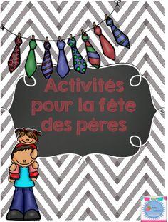 Father's day / Fête des pères Activity in french (français)
