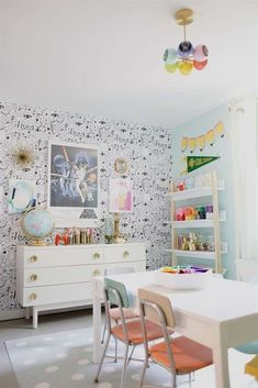 White Chalkboard Wall Playrooms