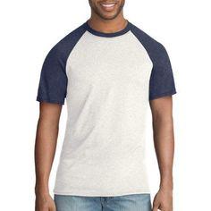 Hanes Big Men's FreshIQ X-Temp Colorblock Short-Sleeve Raglan Tee, Size: 3XL, Beige