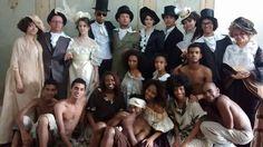 Caracterização para participação no Desfile Cívico de 7 de Setembro, encenando a riqueza dos Barões Fazendeiros e a dura realidade da escravidão no Brasil