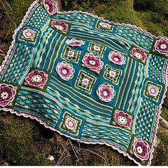 This beautiful, romantic, Lily Pond Crochet Blanket pattern requires you to know basic crochet terminology.