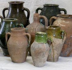 gorgeous old Turkish Olive Jars