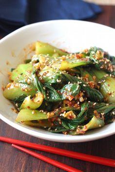 Bok Choy Muchim (Korean Bok Choy Salad)