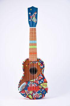 Ukulele - Hand Painted - Each one unique Ukulele Instrument, Ukulele Art, Cool Ukulele, Tenor Ukulele, Ukelele, Guitar Art, Painted Ukulele, Ukulele Design, Guitar Painting