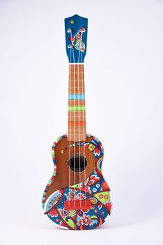 hand painted uke, love this