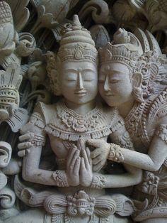 Stone carving at Arma Museum, Ubud, Bali