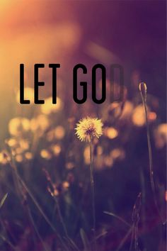 LET GOd. I like the dandelion in the background.