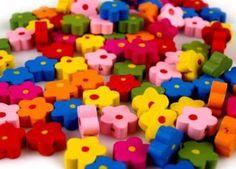 Dřevěné korálky květinky Ø15mm ( 100ks v balení ) Nintendo 64, Logos, Art, Art Background, Logo, Kunst, A Logo, Performing Arts