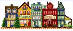 Main Street Everyday - cross stitch pattern designed by Ursula Michael. Category: Architecture.