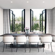 Modern Dining Room Chairs That Will Change Your Home Decor Dining Room Design, Dining Room Table, Dining Rooms, Dining Room Modern, Small Dining, Modern Living, White Dining Chairs, Designer Dining Chairs, Luxury Dining Room