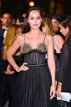 """ Dakota Johnson at the Green Carpet Fashion Awards in Milan, Italy on Sep. 24th, 2017. """