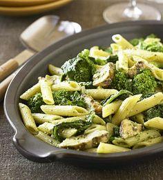 Pesto pasta and chicken