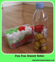 Play & Learn Everyday: Pom Pom Sensory Bottle