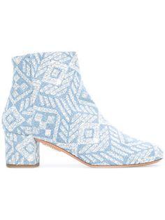 Ankle boot com padronagem