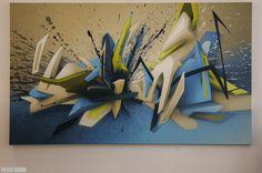 © DAIM Letras Graffiti 3d, Graffiti Tagging, Graffiti Styles, Found Art, Street Art Graffiti, Mural Art, Airbrush, Great Artists, Stencils