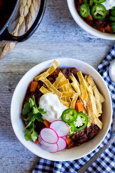 Spaghetti Squash, Sweet Potato & Black Bean Chili-7945