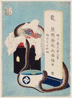 Hokusai - Memorial Anniversary (Shûnen), from the series One Hundred Ghost Stories (Hyaku monogatari)