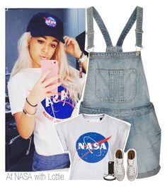 """""""At NASA with Lottie"""" by shefi-22 ❤ liked on Polyvore featuring Topshop, Tee and Cake, 2Me Style, Converse and Marc by Marc Jacobs"""