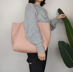Fashion Womens Pink Leather Oversize Tote Bag Pink Shoulder Tote Bag Pink Handbag Tote For Women Pink Handbags, Tote Handbags, Tote Bags, Leather Totes, Pink Leather, Pink Ladies, Shoulder, Womens Fashion, Style