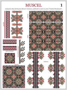 Semne Cusute: model de ie din Muscel embroidery patterns for the traditional… Folk Embroidery, Learn Embroidery, Cross Stitch Embroidery, Embroidery Patterns, Cross Stitch Borders, Cross Stitch Designs, Cross Stitching, Cross Stitch Patterns, Tutorial