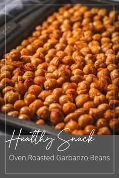 Want a quick, healthy, and delicious snack idea? I've got just the thing. Roasted garbanzo beans are chock full of nutrients and protein, and are a perfect snack when roasted like this. I like them fairly plain, with salt, pepper, and thyme, but, the possibilities of toppings are endless! #eathealthy #foodfluffer #dallasfoodphotography #dallasfoodphotographer #dallasproductphotography #dallasproductphotographer #recipephotography #recipephotographer #easyrecipes #glutenfree #soup #chickpeas